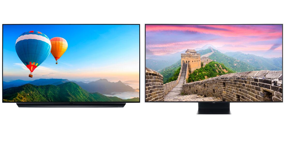 samsung vs lg tv OLED and QLED