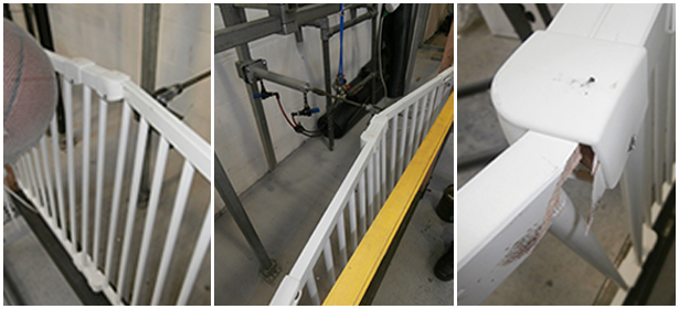 Stair gate laboratory testing