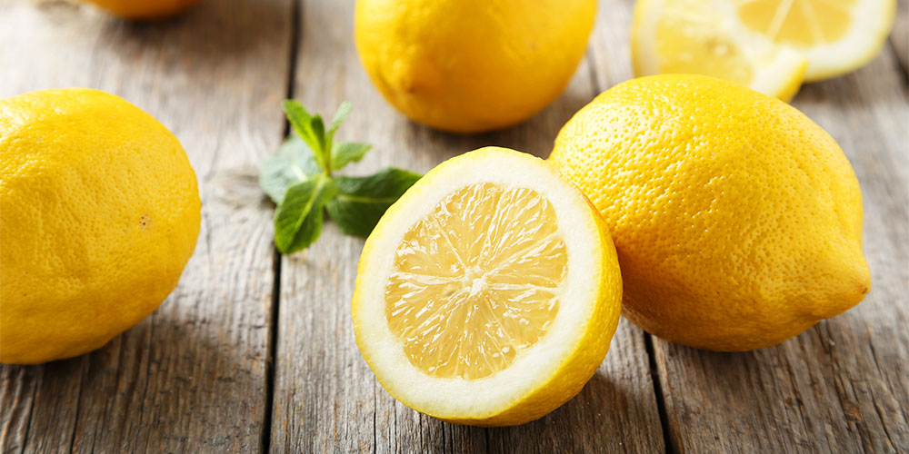 Lemons on a table