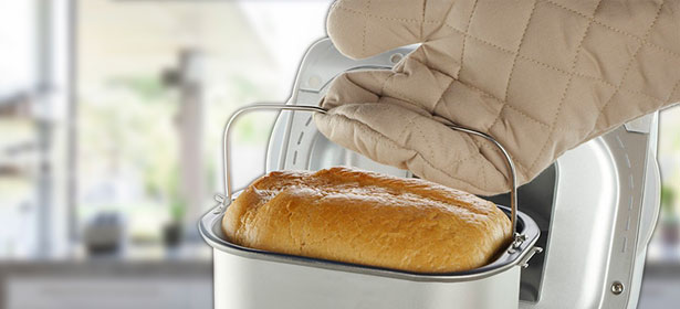 Baked bread from a bread maker