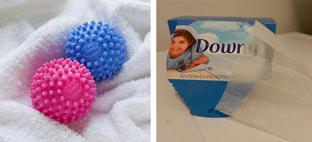 Dryer sheet and balls