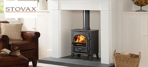 Stovax wood burning stove with logo 480844