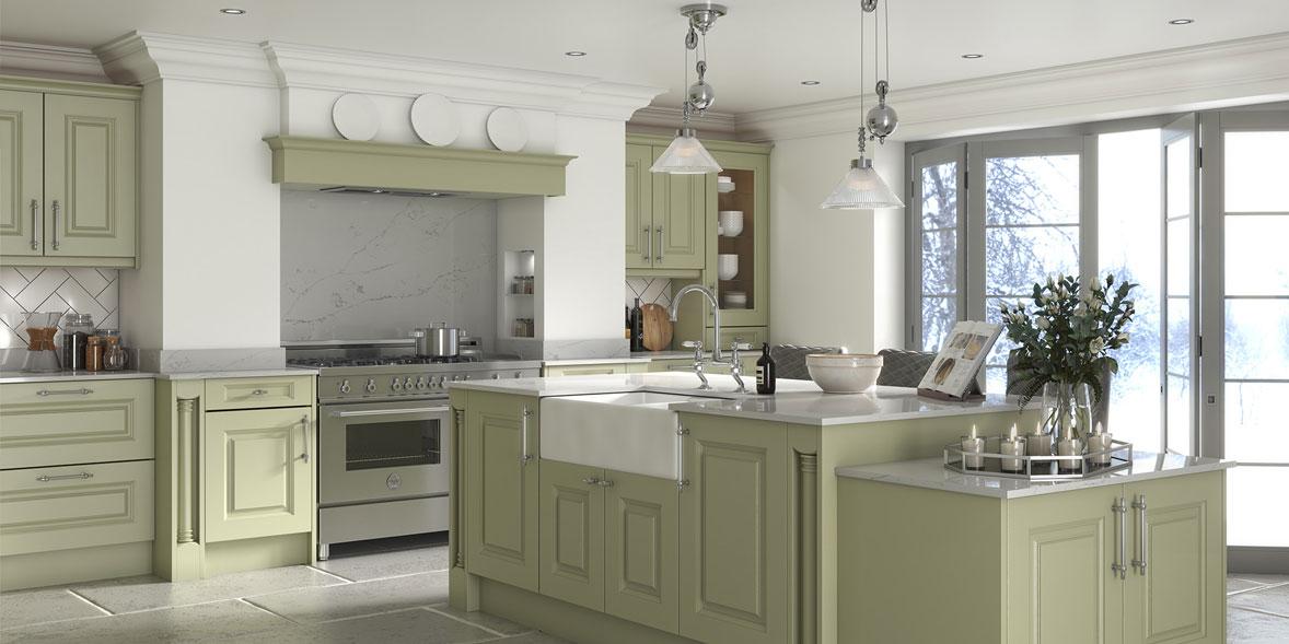 DIY Kitchens Silswood sage kitchen