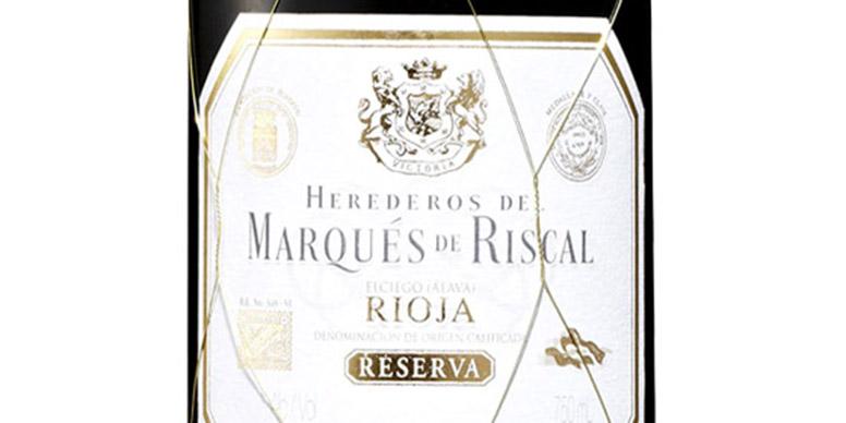 Reserva wine label