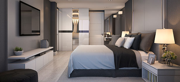 Bedroom with fitted wardrobe and fitted bedroom furniture 479076