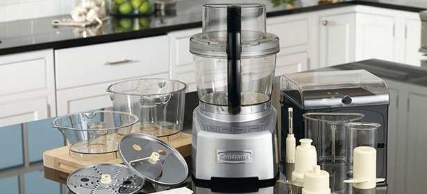 Food processor with variety of attachments and accessories