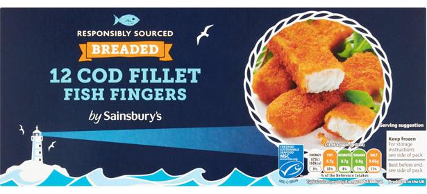 Sainsbury's 12 Breaded Cod Fillet Fish Fingers