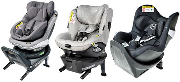 Swivel child car seats