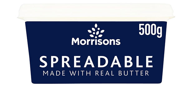 Morrisons spreadable butter