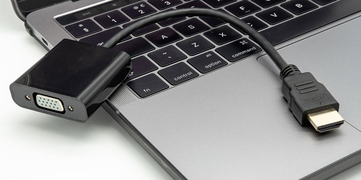 An HDMI to VGA adapter