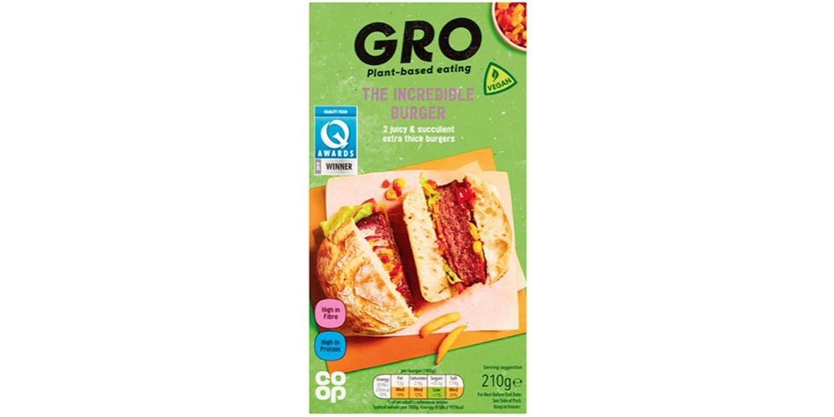 Co-op GRO Incredible Burger