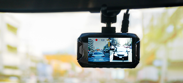 Front and rear facing dash cam