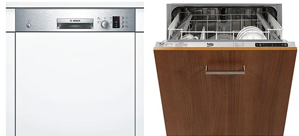 Fully vs semi-integrated dishwashers
