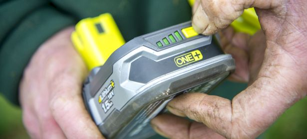 Cordless grass trimmer battery