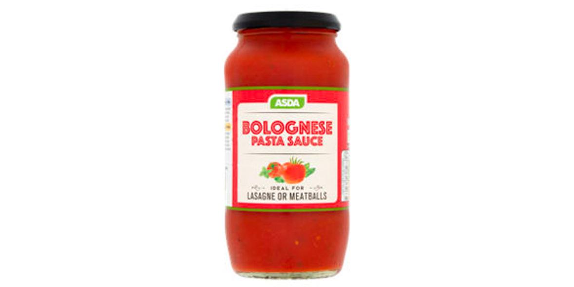 Asda Bolognese pasta sauce