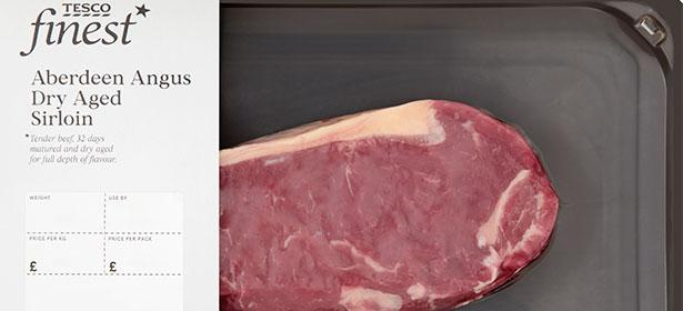 Tesco Finest Dry Aged Sirloin Steak