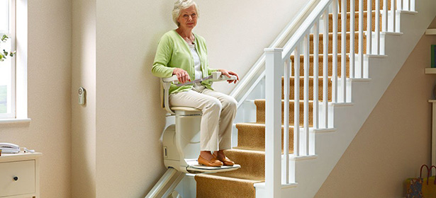 Stairlift in use_8 438010