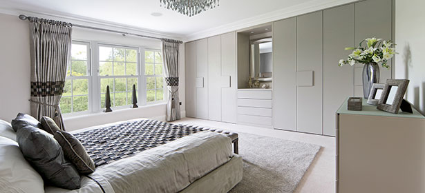 Fitted wardrobe in grey 479081
