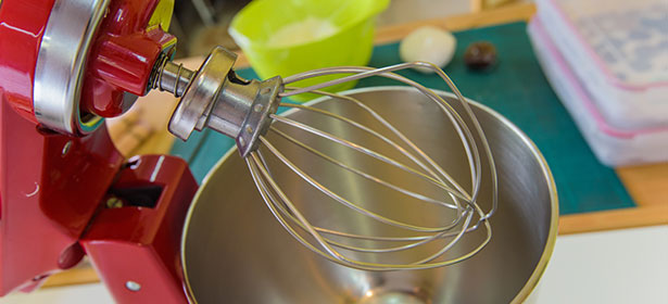 Image of a red whisk