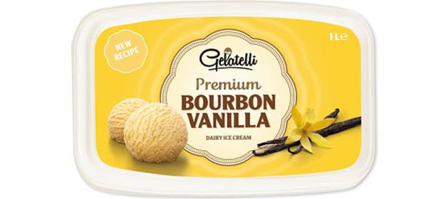 Lidl Gelatelli Premium Bourbon Vanilla Dairy Ice Cream