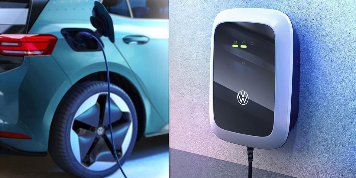 Wallbox charging car at home