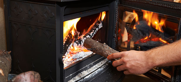 Lighting a wood burner 451098