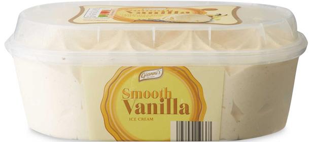 Aldi Gianni's Smooth Vanilla Ice Cream
