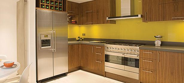 Kitchen with American fridge freezer