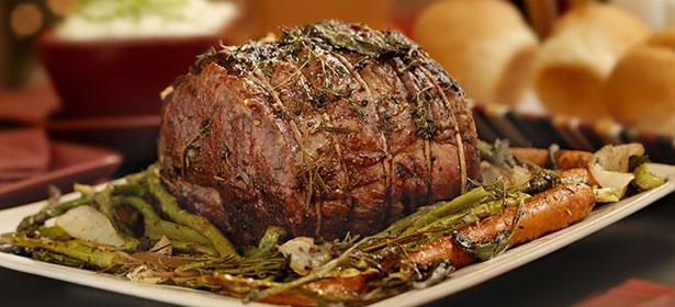 Roast beef Christmas dinner